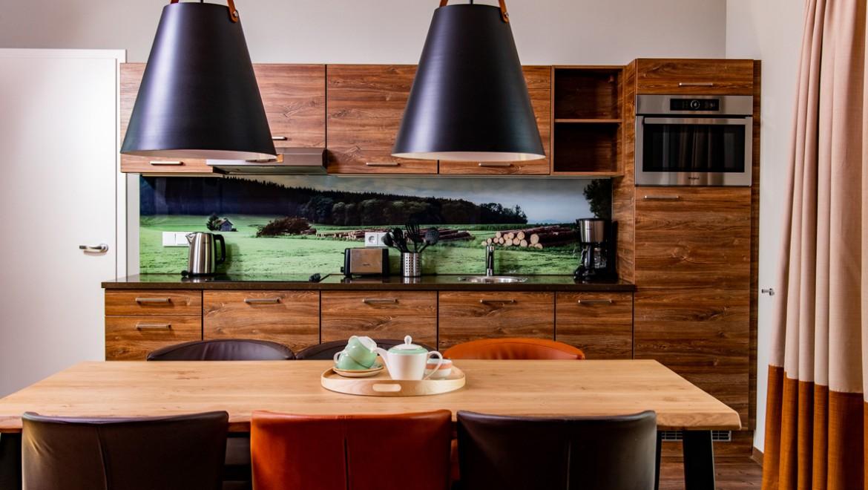 Essküche in einem Ferienhaus im Center Parcs Park Leutkirch