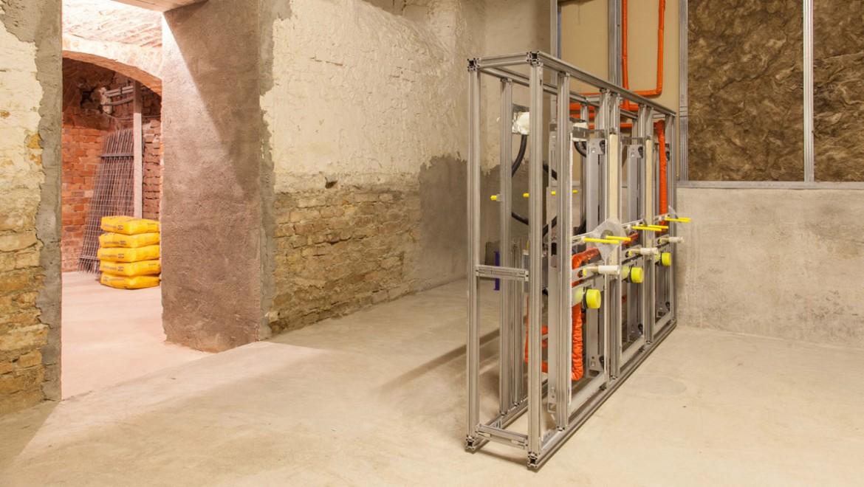 Geberit Installationssystem GIS, Baustelle