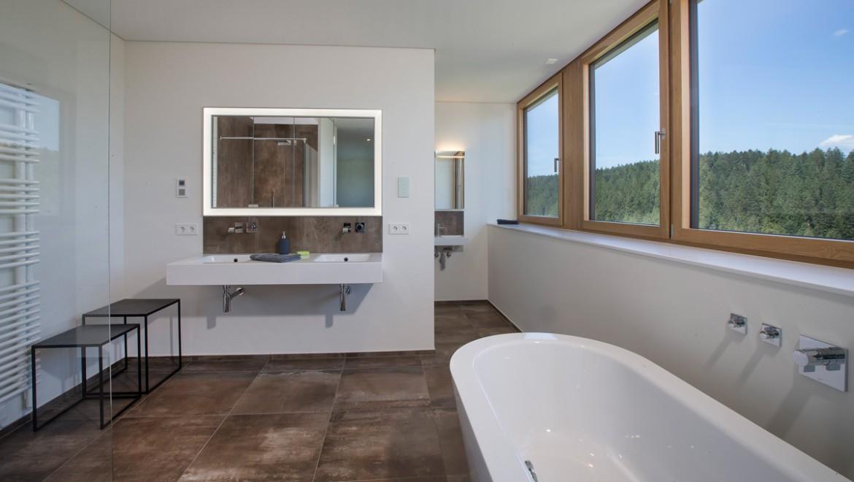 Trennwand zwischen WC und Bad mit Installationssystem Geberit GIS, Parkside Freudenstadt