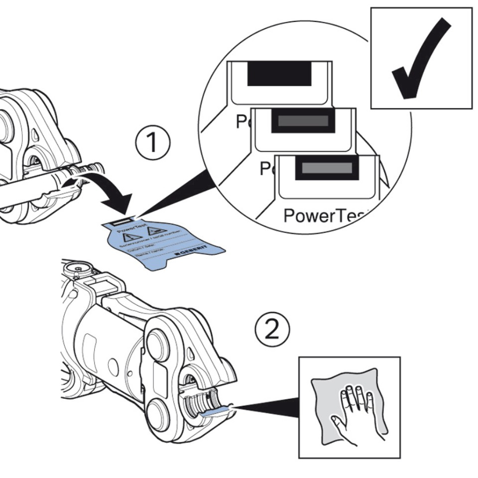 Geberit Power Test - Anleitung Schritt 3