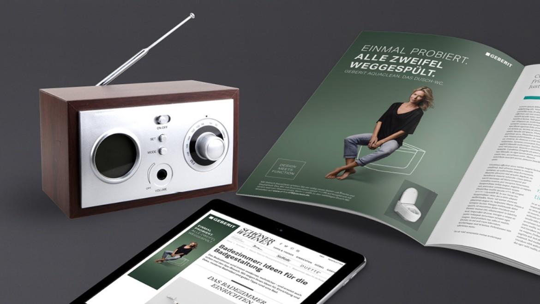 Test@Home, Radiospot und Werbeunterlagen
