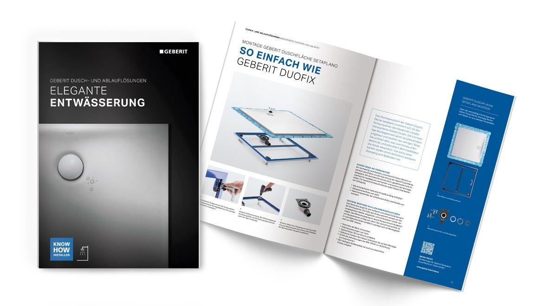 Produktlinienbroschüre Geberit bodenebene Duschen und Ablaufgarnituren