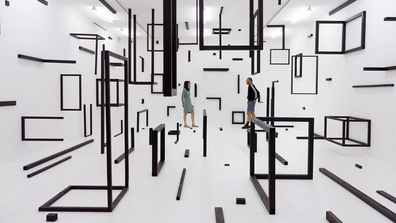 """""""..weil die Zukunft der imagination keinen widerstand leisten kann (Elena Esposito)"""", Abstrakt/Spatial, Kunsthalle Krems, Krems, 2016, Foto: Luiza Margan"""