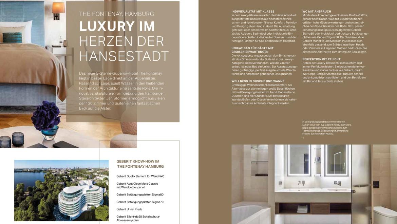 """Auszug """"Referenzen"""", Geberit Hotel-Magazin"""