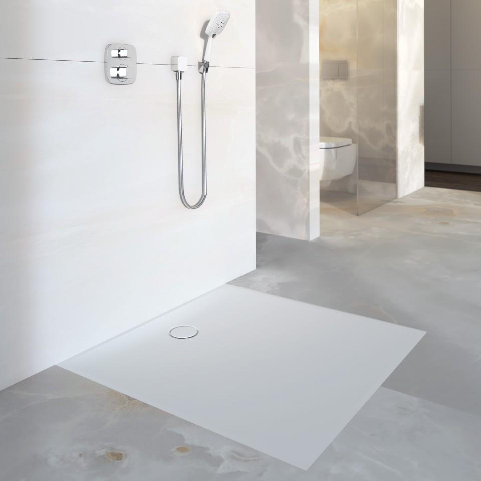 Rutschfeste Duschflächen bieten leicht zu installierende Lösungen für barrierefreie Duschbereiche.