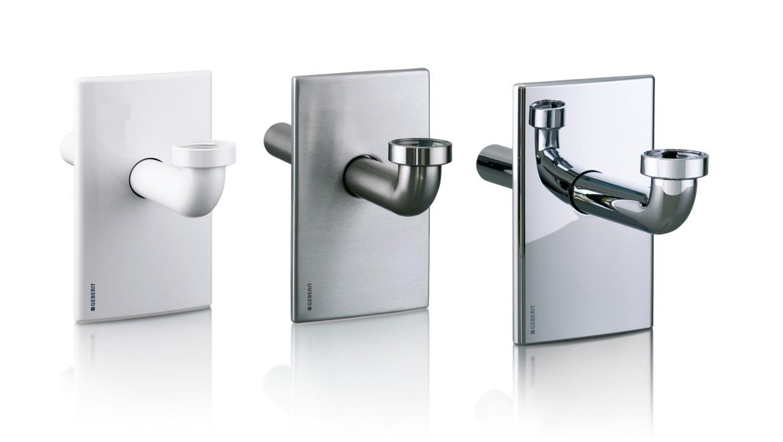 Unterputz-Siphons schränken den Bewegungsraum unter dem Waschtisch nur geringfügig ein, da der Geruchsverschluss in die Vorwand verlegt ist.