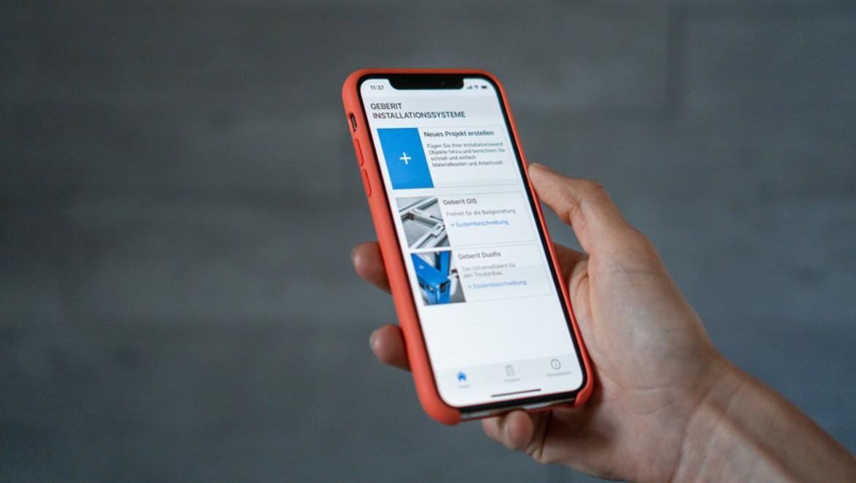 """Neue App """"Geberit Installationssysteme"""" für Smartphone oder Tablet-PC"""