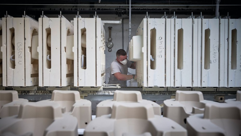 Geberit Standort Wesel, Produktion von Keramiken